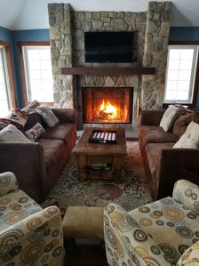 Roaring fire in the great room