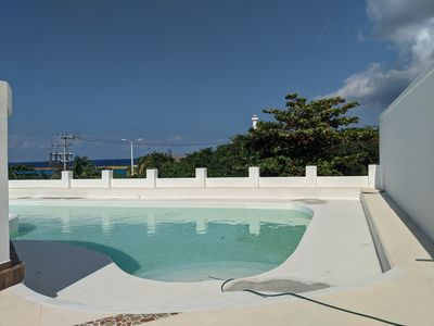Photo for String Ray Beach LTR:$2200/mo  Pool & Entertaining area overlooking Ocean