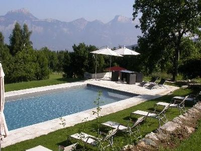 Photo for ST MARTIN D URIAGE Charming cottage on an estate of 7 ha, panoramic view, great comfort, pool