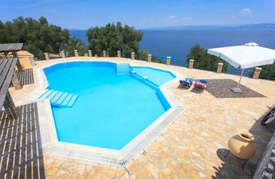 Photo for Villa Anysia - Cosy Villa with Magnificent Sea Views, Shared Pool, only 120 Meters from the Beach ! - FREE WiFi