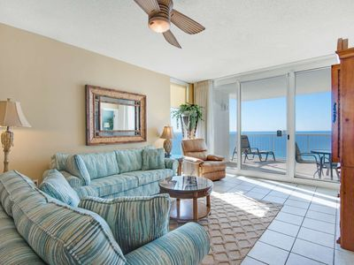 Photo for Corner Unit! Living Room and Master Bedroom Gulf View Plus Free Fun program included! Majestic