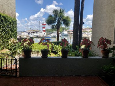 Photo for New Listing!  1019 Caravel Court -  Harbour Town Condo with Waterfront Patio