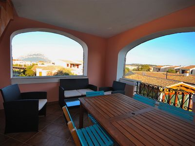 Photo for Porto San Paolo SEA VIEW APARTMENT 500 M FROM THE BEACH WITH SOLARIUM