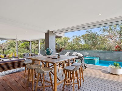 Photo for Pool and Spa, great entertaining areas - close to South Beach - Mount Martha