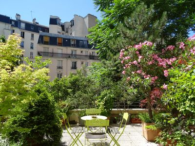 Photo for Flat on large terrace in Paris. Pere Lachaise just nearby, calm, high pressure shower, fast internet