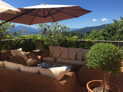 Photo for Fantastic views,  beautiful garden, private swimming pool exclusive, private.