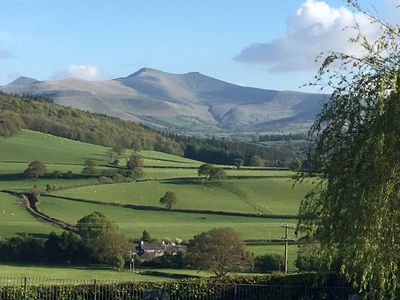 View of Pen y Fan from cottage