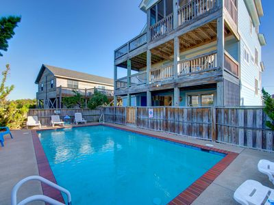 Photo for SEPT. 5 WEEK OPEN! Hatteras Village: 135 yards from the beach, private pool, hot tub, game room