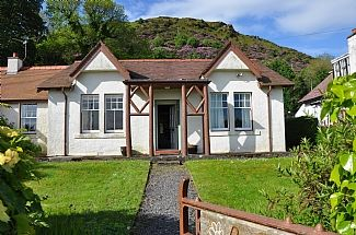 Front of the house, Beinn Ghuilean behind