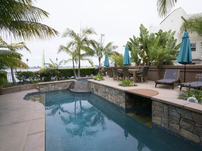 Photo for BAY FRONT with VIEWS! Private POOL and SPA! Outdoor Kitchen!