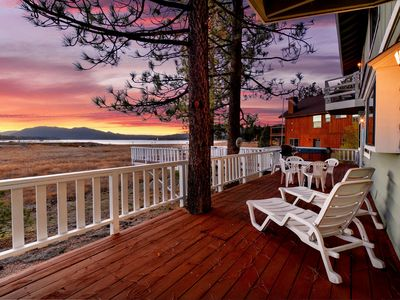 Photo for Eagle House: Outdoor Hot Tub! Pool Table! Amazing Lake Views! Multiple Decks! Master Suite! BBQ!