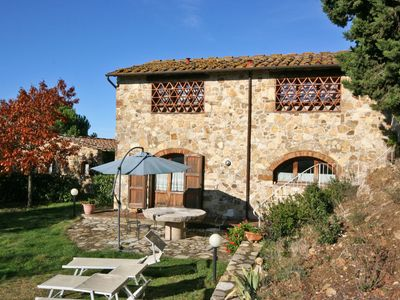 Photo for Cosy apartment with WIFI, pool, TV, balcony, panoramic view, parking, close to Greve In Chianti