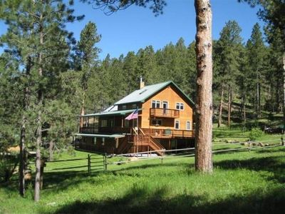 Photo for Secluded, Beautiful Blackhills Cabin, ATV trails on property, Sleeps 12
