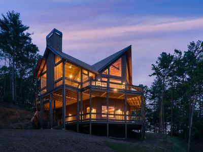 Photo for Find your place perched above the mountains in this stunning cabin