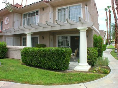 Photo for Beautiful first floor end-unit at Mesquite CC Phase-3 + Perfect Getaway in Central Palm Springs