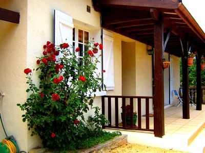 Photo for House in the country, but minutes from Sarlat, enclosed garden, pool & WIFI