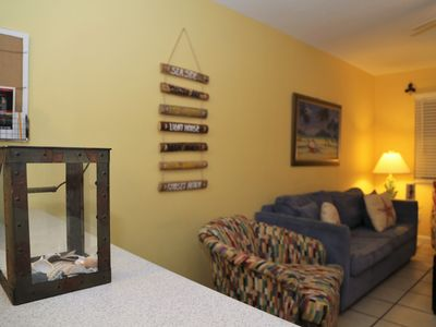 Photo for Sunrise Village 212 ~ Renovated, Bright Colors, Steps to the beach! FREE Wifi by Gulfsands Rentals
