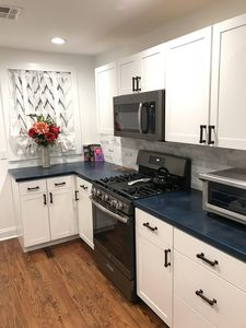 Gas stove with convection oven