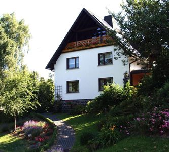 Photo for Bright, spacious apartment overlooking the green in the center of Breitscheidt, close