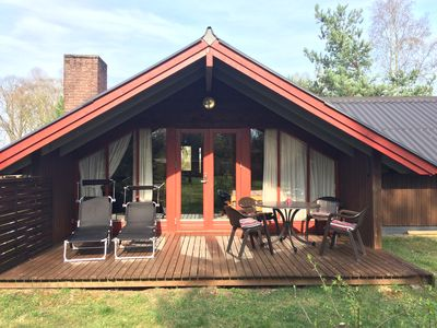 Photo for Year-round recreation in the Danish cottage with fireplace in Gartow am See