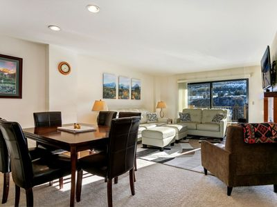 Photo for Spacious and quiet condo steps from the gondola and in the heart of it all