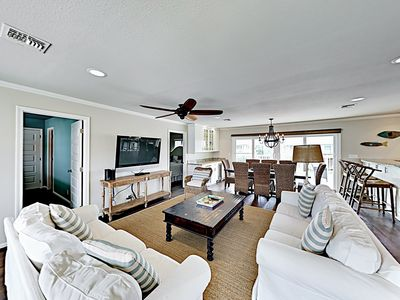 Photo for Stylishly Remodeled Home w/ Canal Views & Private Deck - Near Beach