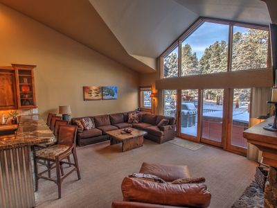 Photo for Spectacular Three Bed, Three Bath, Private Hot Tub.  Walk To Town & Peak 9 Lifts
