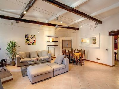 Photo for Studio apartment 220 m from the center of Rome with Internet, Air conditioning, Washing machine (751729)