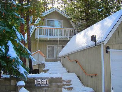 Photo for Cabin by Lake & Slopes w/ Hot Tub. Ping Pong in Garage. Small Dog Friendly.