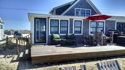 Photo for Beach Front Condo- private deck! Outer Cape At Its Best! Prime Location!