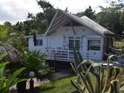 Photo for Creole cottage with beautiful sea views in the countryside