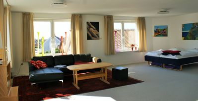 Photo for Large bright and cozy 1st floor apartment with a view
