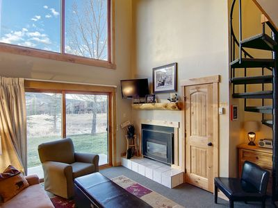 Photo for Comfy Condo with Great Views from Both Levels, Walk to Ski, Free Bus, Hot Tub, Pool & More