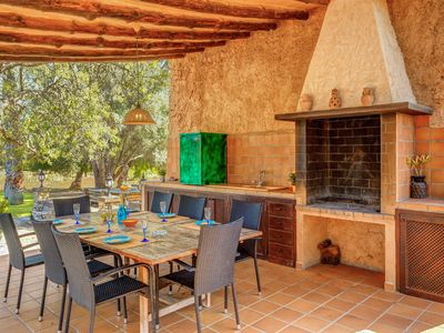 Photo for Stunning Holiday Home Ses Vinyes with Mountain View, Wi-Fi, Pool, Garden & Terraces; Parking Available