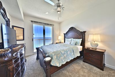Master bedroom with access to private balcony