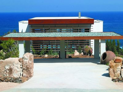 Photo for Pomos Villa - Modern and Stylish 4-Bedroom Villa with Private Pool and Spectacular Sea Views, Direct Access to the Beach ! FREE WiFi