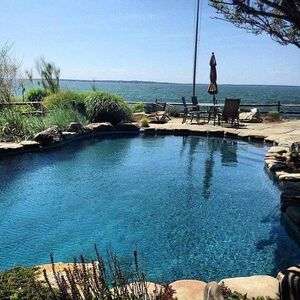 Photo for 6 BRs - 160' private beach, heated pool - 2 masters  - Aug 11th - Sep 7th, 2018