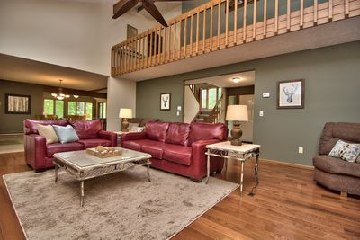 View of main level living room