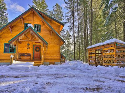 Photo for NEW! Secluded Leavenworth Cabin on Chiwawa River!