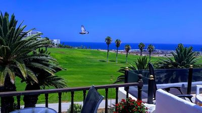 Photo for Beautiful 2 Bedroom Duplex overlooking golf course, sea and marina. WiFi. 3pools