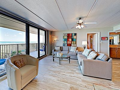Photo for New Listing! All-Suite Getaway Unit 208 w/ Gulf-View Balcony, Pools, Hot Tubs