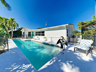 Photo for Posh Home w/ Private Pool & Patio - 2 Blocks from the Beach