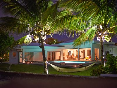 Photo for Beach Front Luxury Villa with Pool