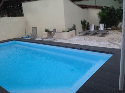 Photo for Detached House Plein foot (130 m2) with pool, garden and bocce