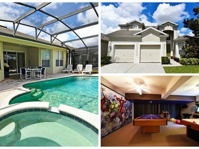Photo for Relaxing 5 Bedroom Rental in 5 Star Resort only 2 miles from WDW, Free WIFI