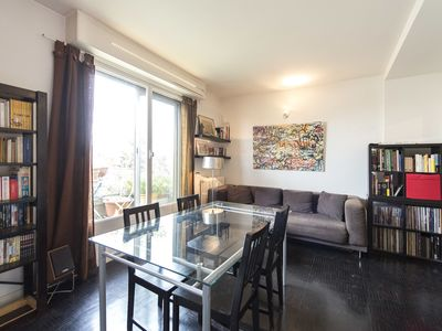 Photo for Walk to the Eiffel Tower from this 1 BR apartment with balcony views (Veeve)