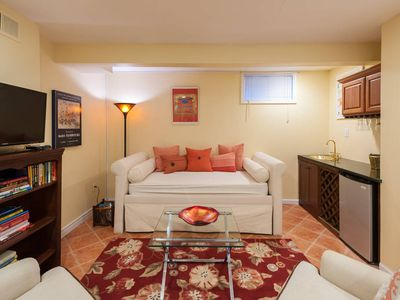 Photo for Sunny, Large, Fully-Furnished Apartment with Free Parking