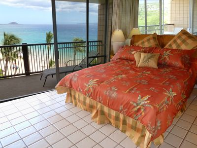 Photo for Mana Kai Beachfront - Amazing Top Floor Above the Palms View. New bathrooms &A/C