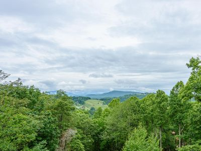 Photo for Log Cabin with Long Views, Updated Granite/Stainless Kitchen, Fireplace, Close to Attractions