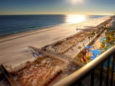 View of gorgeous beaches, gulf, and sunsets from large balcony on 8th floor